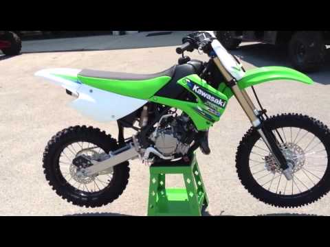2013 Kawasaki KX100 in Lime Green 2013 Monster Energy Kawasaki KX 100 at Tommy's Motorsports
