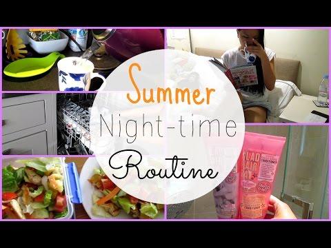 Summer Nightime Routine 2015 | Asia Jade