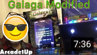 Mod of Galaga Cabinet from Arcade1Up is complete (Almost)