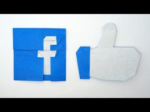 Origami Facebook Logo and Like