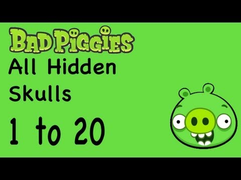 Bad Piggies - All Hidden Skull Locations 1 to 20   WikiGameGuides