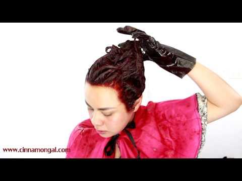 Cinnamongal for Garnier Olia ทำสีผมเองด้วยครีมแบบน้ำมัน [ODS] ไม่มีแอมโมเนีย+แต่งหน้าโทนม่วงแดง