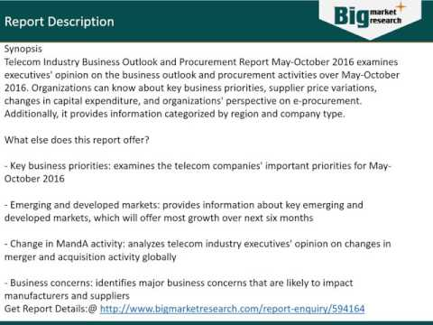 Telecom Industry Business Outlook and Procurement Report Demand and Trend