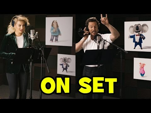 Go Behind The Scenes With SING Voice Cast Tori Kelly, Matthew McConaughey, Taron Egerton + CLIPS!