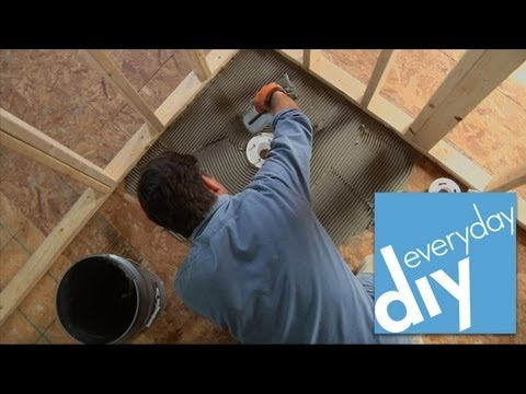 Buildipedia DIY - How to Install a Tileable Shower Base