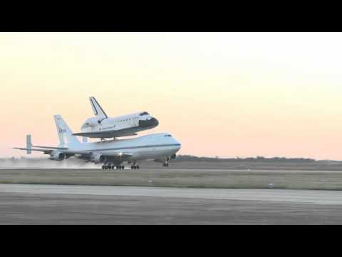 The space shuttle Endeavour atop its 747 Shuttle Carrier Aircraft departed Houston's Ellington Field at 7:03 a.m. CDT on Thursday for California.