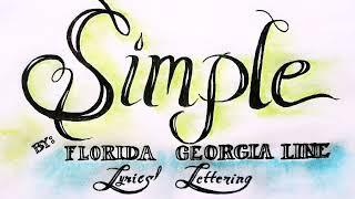 Download Lagu Florida Georgia Line -Simple Lyrics' Lettering Gratis STAFABAND