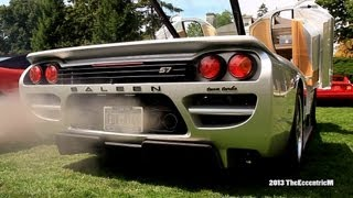 Saleen S7 Twin Turbo start up and LOUD revs at 2013 Marques d'Elegance!