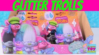 Trolls Series 6 Blind Bags New Glitter Sparkle Friends Mystery Toy Review | PSToyReviews
