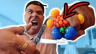 CUTTING OPEN GIANT STRESS BALLS!! (WHAT