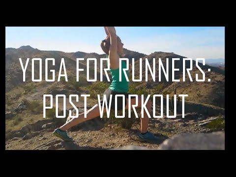 Post Run Yoga in the Arizona Desert