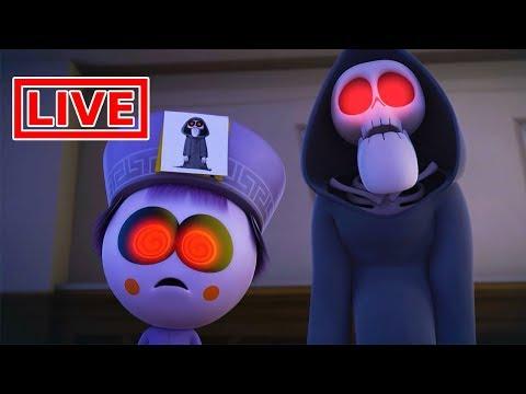 Funny Animated Cartoon | Spookiz Brand New Scary Swing Jump Challenge | Cartoon for Children