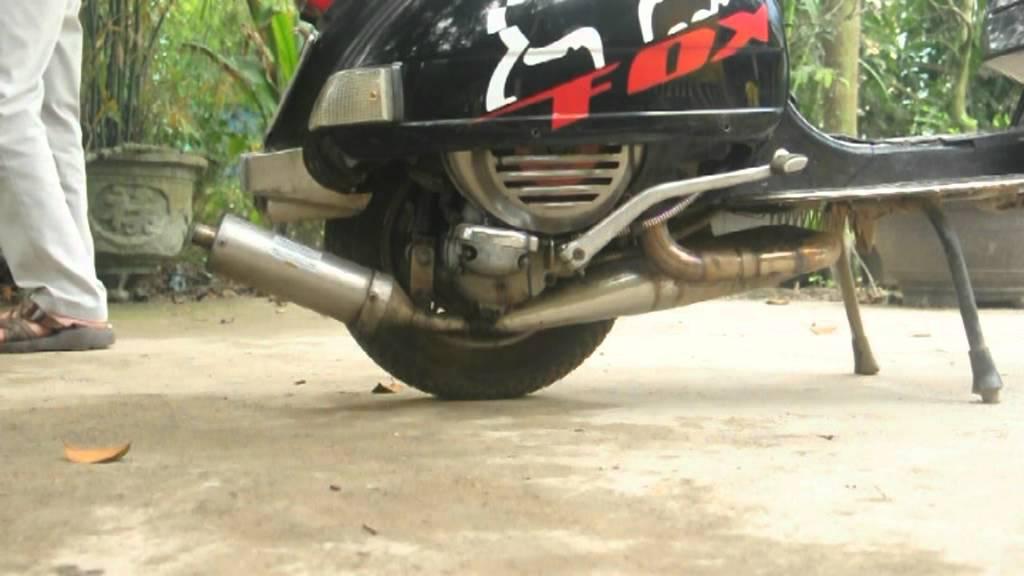 Vespa px 150 Racing Test 2 Exhaust Vespa px 150