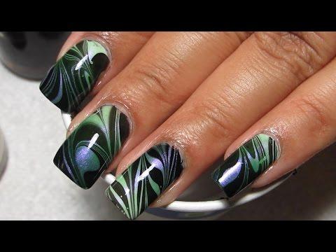 #FightForLightAndLive Water Marble Nail Art Tutorial