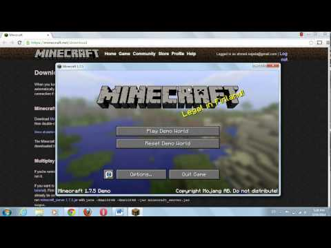 How to download minecraft demo free on pc or laptop . No torrent , less than 1 minute