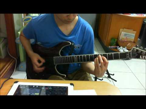Basic metal rhythm guitar with backing track and standard tuning