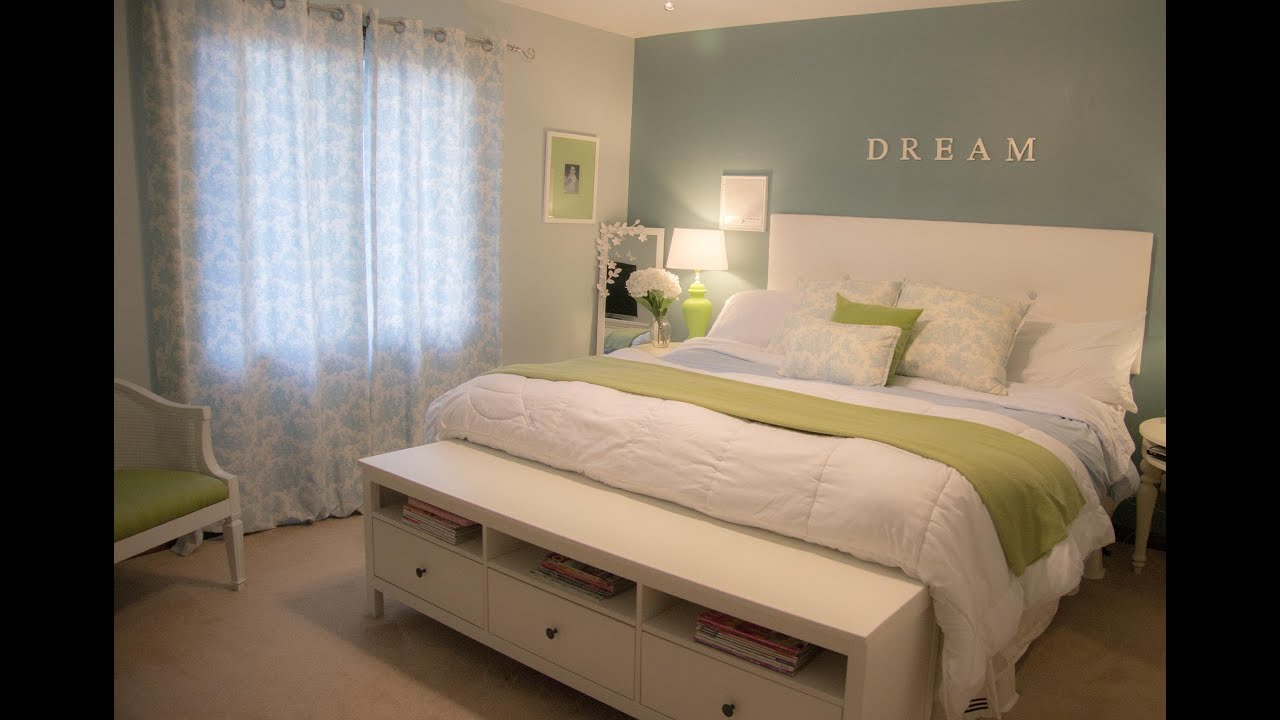 Decorating tips how to decorate your bedroom on a budget for Bed decoration ideas
