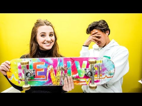 GIRLFRIEND BUILDS MY CUSTOM SKATEBOARD!!