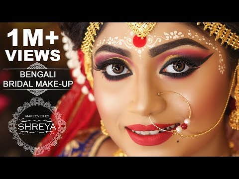 ||SHREYA'S BENGALI BRIDAL MAKEOVER||
