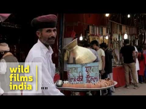 Selling tea in Kulhar during Pushkar mela