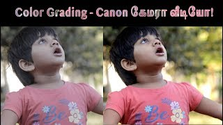 Canon Video Colour grading   NO LUT   தமிழ்   Learn photography in Tamil