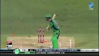 Maxwell's unbelievable first ball leave (Big Bash T20)