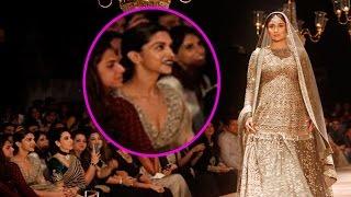 Deepika Padukone is Literally Awestruck by Kareena Kapoor Khan at the Lakme Fashion Week 2016
