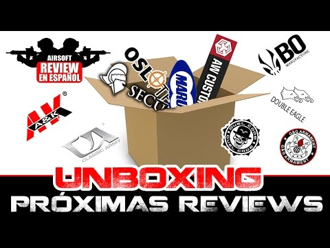 UNBOXING 2500€ PRÓXIMAS REVIEWS !!!! Airsoft Review en Español