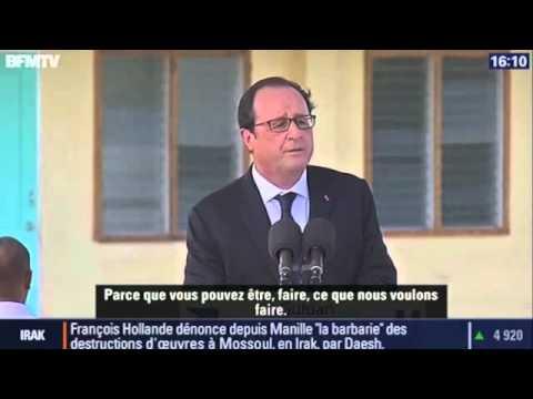 François Hollande - Discours en anglais aux Philippines