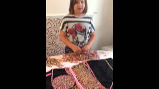 Loom Band dress - Video 10 - Day 4 -