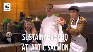 Wah!Banana challenges Chef Lucas of Grand Hyatt for a sustainable salmon dish! | WWF-Singapore