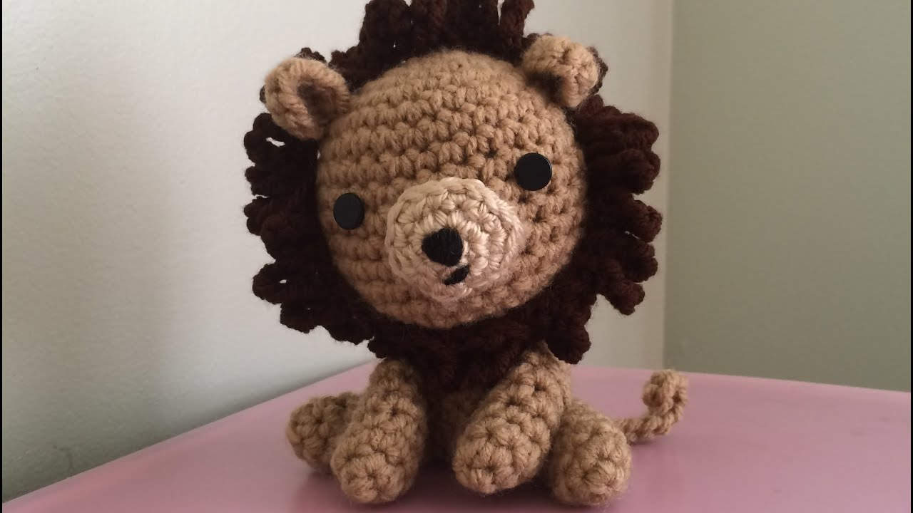 Amigurumi Lion Perriton : Tutorial on how to crochet an amigurumi lion part youtube