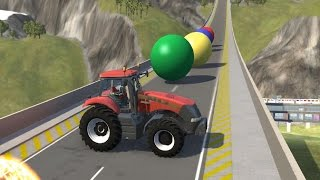 Crushing Cars with Giant Marbles 7 - BeamNG.Drive Car Accident
