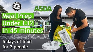 MEAL PREP ON A BUDGET! Under £32 in 45 Mins (5 days of food for 2 people)