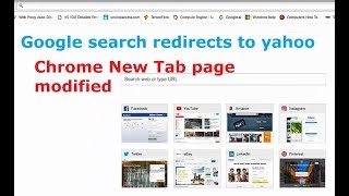 Google Search redirects to yahoo when i search from address bar in chrome