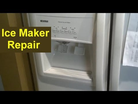 Kenmore Coldspot Refrigerator Ice Maker Repair (Auger - Ice Pusher) - Home Repair Series