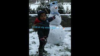 3days snow playing with my baby