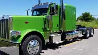 VIPER GREEN BRAND NEW FLATTOP 2016 PETERBILT 389