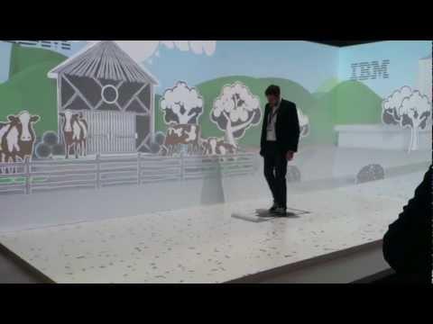 IBM projector 3D / IBM projektor 3D - CeBIT 2013 Hanover - Germany
