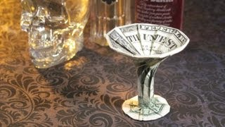 Dollar Origami: Martini Glass