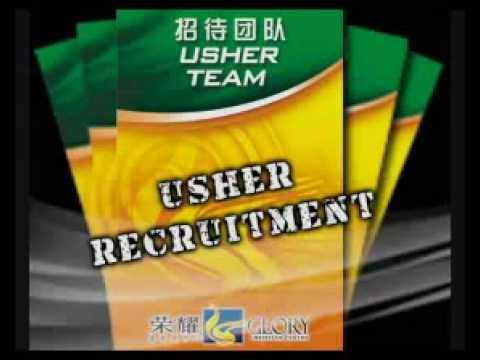 Ushers Recruitment - Glory Christian Centre, Kota Kinabalu, Sabah. Malaysia.