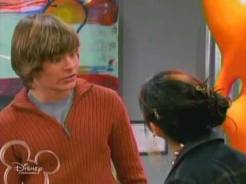 Zac Efron and Ashley kiss on suite life of Zack and Cody