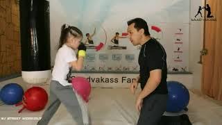 Incredible little girl Evnika Saadvakass Just 9 year Old Future Boxing Champion