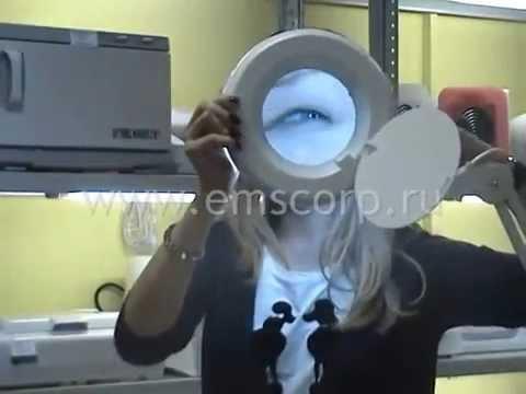 Лупа с подсветкой  видео