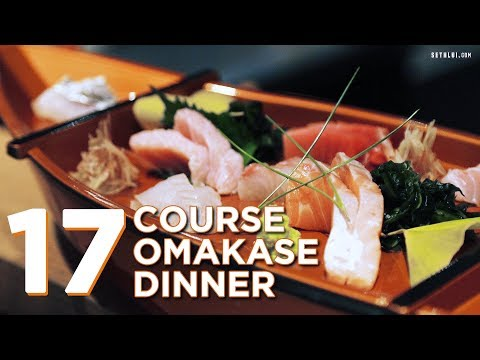 17 Course Omakase Dinner