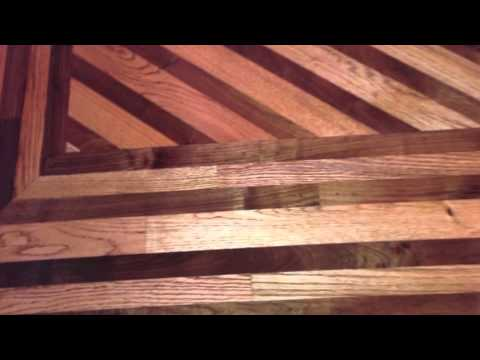 Wood floors borders and designs youtube for Hardwood floor borders ideas