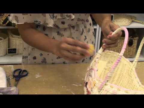 Easy Decoupage : Napkins on basket by BeBelle