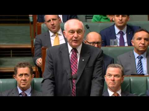 The Nationals Warren Truss speech to the House announcing his retirement.