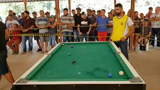 Croquete de Manaus vs Fábio Cacoal, um ótimo jogo de sinuca.