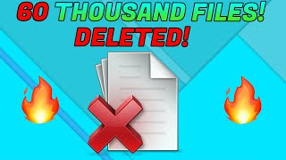 DELETING 60 THOUSAND FILES OFF A SCAMMERS PC!